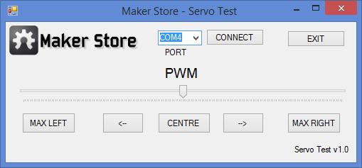 Servo Test Program