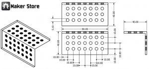 PLATE-40X80L 20