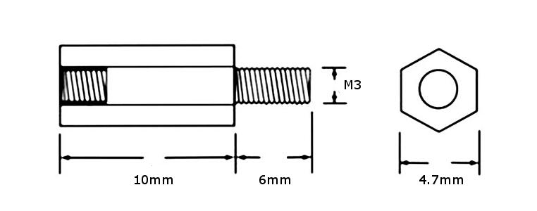 m3 brass standoffs  spacers