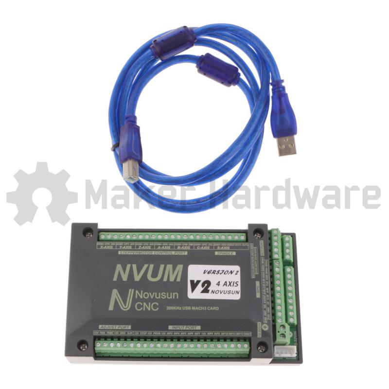 CNC Controller - 4 Axis USB - Novusun Version 2